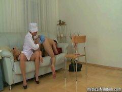 Cute nurse Willa pounding his ass
