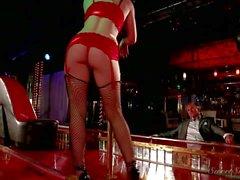 Stripper Jennifer White in red underwear teases Marcus London