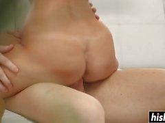 Kinky Angelina needs a long fat cock