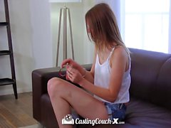 CastingCouch-X - Alta y flaca Sophia Wilde folla agente
