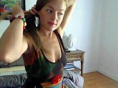 Amateur krystalorchid blinken Arsch auf Live-Webcam