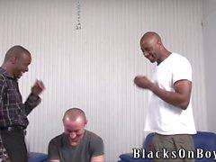 homme polir amusante obtient enculer par les hommes black