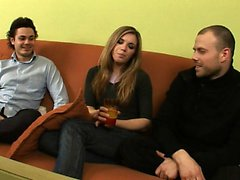 Amatör rusça genç dp üçlü