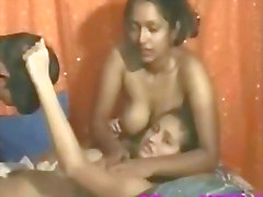 hot deep fucking of three indian babes