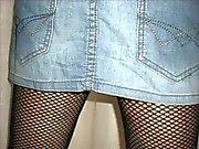 bilder fyra kort kjol samt stövlar vit