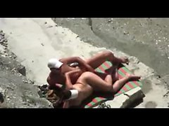 Beach Adult Movie Mature Pair Spied on Camera