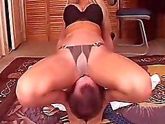 woman dominates man wrestling pantyhose EXCELLENT