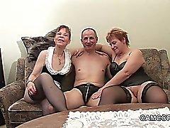 German ancienne Grandpa père et grand au privat Trio Amateur