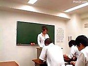 Nami Kimura Sexy professor dá seu estudante Uma boa lição