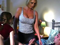Busty british stepmoms fun with teen couple