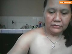 50 Year Old Mature Filipina Lyla G From Cebu Cam Show Part 1