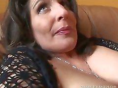 Russian Granny Gets Stiff Cock