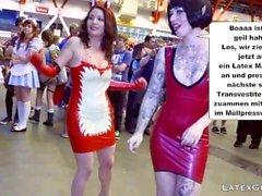Latex Maids-Scheiss Transvestitenschweine totpressen & verbrennen