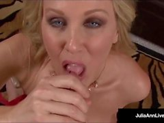 Mega Naughty Milf Julia Ann kertoo Dirty & Deep throats Dick!