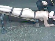 Sex slave restrained for punishment