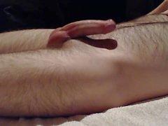 Aneros super-orgasm with a little river of cum