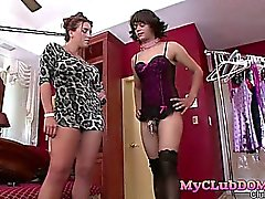 Mistress humiliates men slave