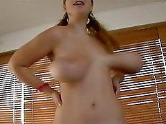 Terry Nova plays around with her big titties in slow motion