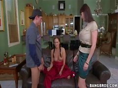 E Karera, H Hudson - step-mom catches step-daughter getting fuked