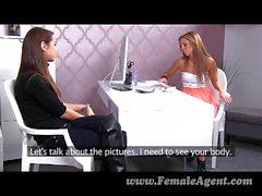 FemaleAgent - First shy lesbian experience