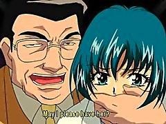 Hentai девушка поймана и связан с Shemale
