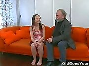 She loves her boyfriend but not enough to keep her hands of the old guy!