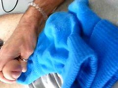 Cum on calzini blu