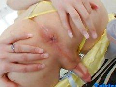Lüsterne TS Sarina Valentina After geschlagen
