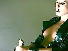 Mysterious model masturbates with dildo