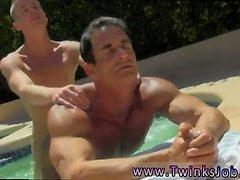 twinks incrível com os caras Jism em cascata para baixo o seu bronzeado
