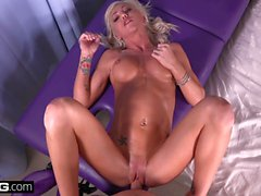 Young MILF Karson Kennedy gets a creampie in her tight pussy