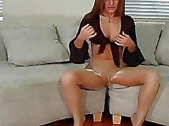 Masturbatie in zwarte panty