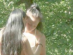 Jugend Lesben Geschlechts Dreharbeiten zu Natur