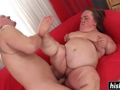 Naughty midget gets her cunt plowed