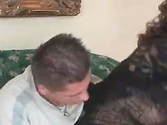 Ugly hairy mature fucked by a young stud