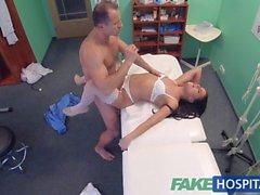 FakeHospital Lääkärin creampies seksikäs uusi hoitaja