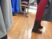 candid fat ass latina in tight leggins culona