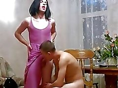 Brunette Crossdresser Fucking