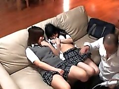 Three naughty schoolgirls from Asia