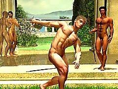 3D-Fantasy- Homosexuell und Muskulös Boys!