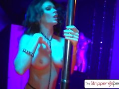 The Stripper Experience - Jessica Jaymes y Nikki Benz follando una gran polla