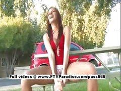 Melissa funny lovely teenage babe toying