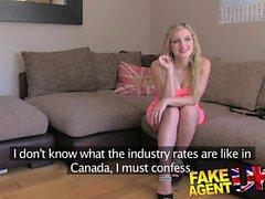 FakeAgentUK kanadischen hottie strebt UK Porno Arbeits