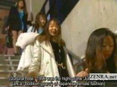 Subtitled bisarra japanska alla naken audition striptease