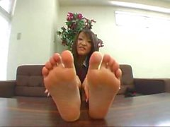 Delicious asian teen feet