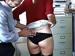 Attraente extravergine all'ufficio femmina che Shyla della Ryder arriva analmente fottuti