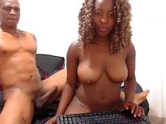 Ebony amateur huge boobs tease webcam