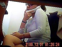 Onder bureau in Mexicaanse kantoor