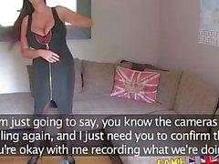 FakeAgentUK Pinto britânico com mamas enormes dá agente um tiro no anal