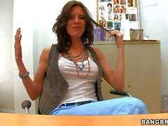 Violet Raye strips on cam in the casting room